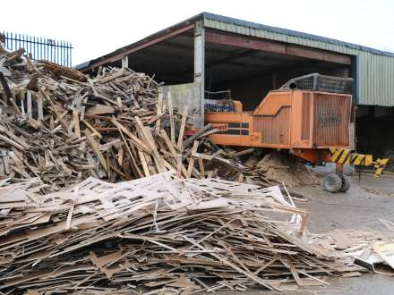 Wood chipping recycling